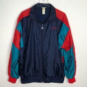 ADIDAS Colorblock Windbreaker Zip Front Jacket XL